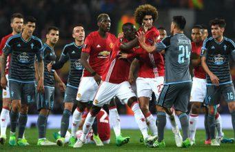 Kartu Merah Facundo Roncaglia & Eric Bailly di Semifinal Man United vs Celta Vigo