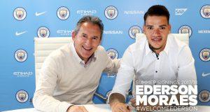 Manchester City Teken Kontrak Dengan Kiper Ederson Untuk £34,7 Juta