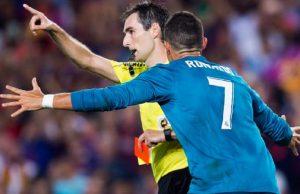 Cristiano Ronaldo Kena Sanksi 5 Pertandingan Karena Mendorong Wasit