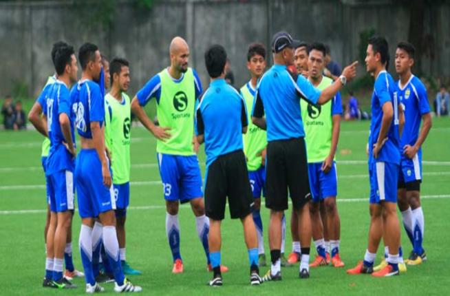 Latihan Serius Persib Jelang Lawan Persija Jakarta