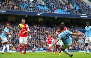 Sergio Aguero Menjadi Pemain Terbaik Pada Kemenangan Atas Arsenal