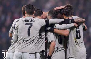 Juventus kembali meraih kemenangan atas Sassuolo saat bermain di Mapei Stadium dengan tiga gol tanpa balas